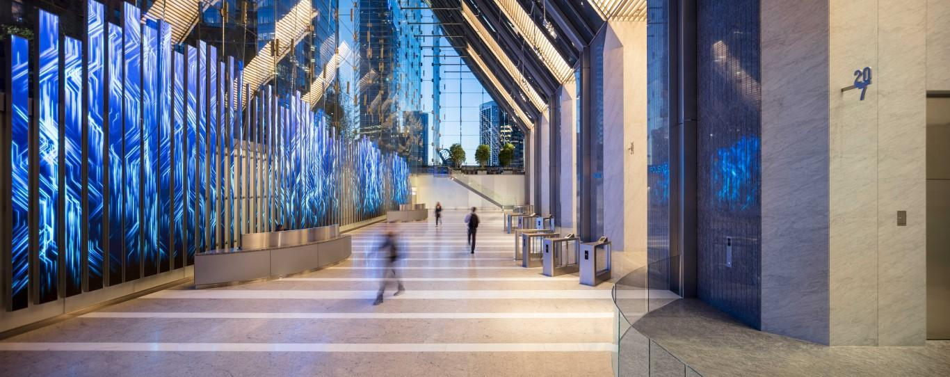 lobby-blue-150-north-riverside-atrium-saflex